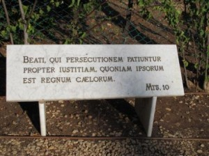 one of the many plaques that are on the grounds of the mount