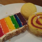 More lovely looking treats.... Rainbow cake is a specialty there.... The jelly roll was nice... lemon cookie...